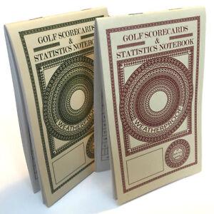 Golf Scorecard and Statistics Notebook (2 Pack) Weatherproof Paper