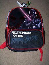 "NWT Star Wars 16"" Backpack ~ Black & Red ~ Darth Vader ~ The DARK SIDE ~"