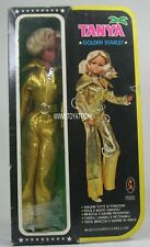 Barbie sized clone doll Tanya Golden Starlet in golden fashion from '70's NRFB