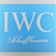 IWC Schaffhausen Vinyl Decal Die Cut 3x5in White Watch Logo Window Sticker