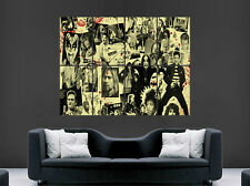 ROCK AND ROLL MUSIC POSTER ARTISTS SINGERS BANDS WALL ART COLLAGE  LARGE IMAGE