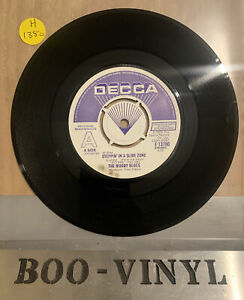 "THE MOODY BLUES  Steppin in a slide zone 7"" Demo / Promo Decca Records,1978 EX+"
