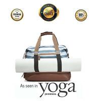Women Leather Travel Luggage Handbag Shoulder Bag Duffle Gym Sports Yoga Mat Bag