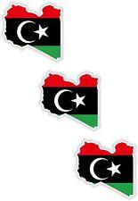 "Libya 3x Small Map flag Stickers (1.2"")Bumper Helmet Phone Fridge Bike Cycle"