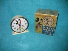 Disney MICKEY MOUSE Alarm Clock Ingersoll/US Time w/Box