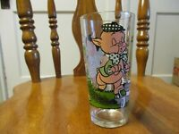 Porky Pig and Petunia Pig 1976 Pepsi Collector Glass