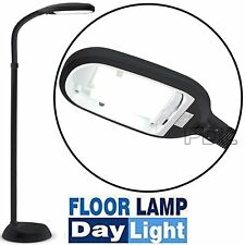 Energy Saving 27w Daylight Sad Reading Hobby Craft Floor Light Standing Lamp Black