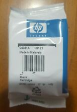HP 21 Original Black Ink Cartridge (C9351AN). Open box, but unopened wrapping