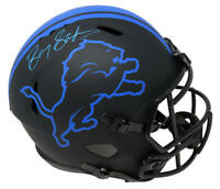 Barry Sanders Signed Detroit Lions Eclipse Riddell Speed Full Size Helmet - SS