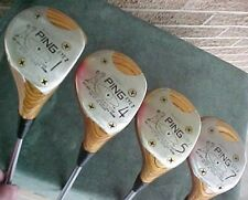 Ping Eye 2 Golf Clubs Woods Refinish Wood Set Driver 4 5 7 w New Tour Wrap Grips