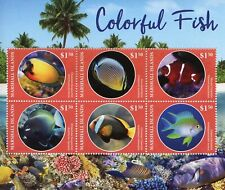 Marshall Islands 2019 MNH Colourful Fish Clownfish 6v M/S II Fishes Stamps