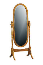 Walnut Hampton Cheval Mirror Oval H150 X W56 X D40 Cm Hm0019