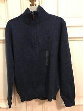 Ralph Lauren Strick Rollkragen Pullover Sweatshirt Blau Gr. M 100% Baumwolle NEU
