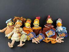 Chicken Run Complete Set Lot 6� Plush Beanies Figures Playmates Vintage 2000 Nwt