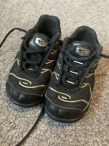 Nike Tuned 1 Black And Gold Infant Size 5.5 Uk Trainers