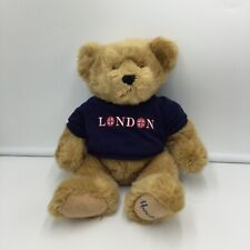 Harrods Knightsbridge Brown Bear Blue Shirt London Plush Soft Toy Stuffed Teddy