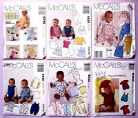 McCall's OOP Sewing Pattern Infant's Baby Clothes Jumpsuit Romper Dress You Pick