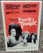 "Female Trouble Movie Poster 2"" x 3"" Refrigerator Locker MAGNET Divine Waters #1"