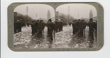 WWI Stereoview (Realistic) - Earl Haig inspects sailors who took part in raids
