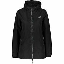 NEW BALANCE Women's Black Hooded Windbreaker Jacket, size LARGE