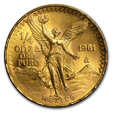 1981 Mexico 1/4 oz Gold Libertad BU - SKU #82691