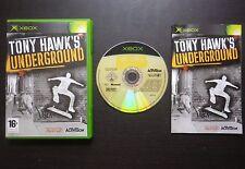 TONY HAWK'S UNDERGROUND : JEU Microsoft XBOX (skate COMPLET envoi suivi)