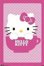 Hello Kitty ~ Tea Cup 22x34 Cartoon Poster Anime Yuko Shimizu Sanrio New/Rolled!