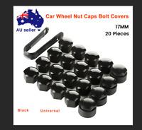 20 PCS 17MM CAR WHEEL NUT BOLT COVERS CAPS Black+ REMOVAL TOOL.