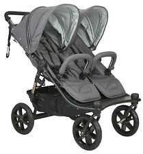 Valco Baby Twin Tri Mode Duo X Compact All Terrain Double Stroller Dove Grey NEW