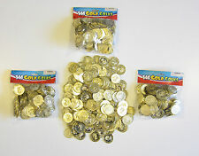 432 PLASTIC GOLD COINS PIRATE TREASURE CHEST  PLAY MONEY BIRTHDAY PARTY FAVORS