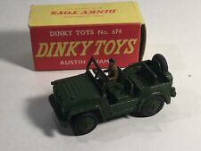 Dinky 674 Austin Champ With Driver Boxed Army Jeep
