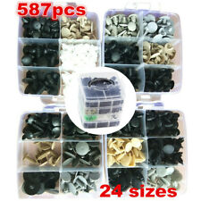 587pcs Auto Car Body Plastic Push Pin Rivet Fasteners Trim Panel Moulding Clip