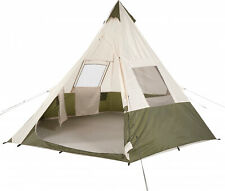 Ozark Trail 7-Person Teepee Tent Without Center Pole Obstruction Camping Hiking