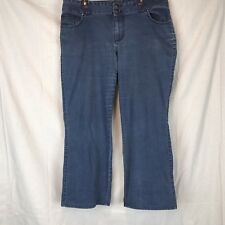 Elle 20W Straight Leg Flap Pockets Stretch Plus Size Jeans