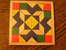 "Darice Colorful-Tiled RHOMBUS PUZZLE 5.25"" Square Tangram Brain Puzzle~~NIP!!"