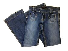 Juicy Couture Womens Jeans Size 29 Flare Bell Dark Blue Wash
