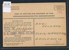 K2512) Kriegsgefangenenpost USA Gef.-Meldung PWIB France 6.6.45 > Kl.Wansleben