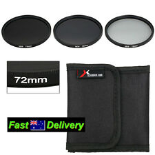 72mm Neutral Density Filter Kit ND2 ND4 ND8 Case for SONY LENSES - See Fit List