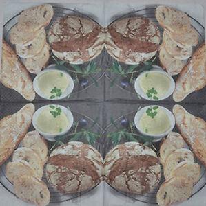 PAPER TABLE NAPKINS FOR CRAFT VINTAGE BREAD DECOUPAGE TEA PARTIES 251