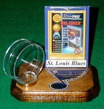 St. Louis Blues NHL Sports Card Display Hockey Puck Holder Logo Display Gift