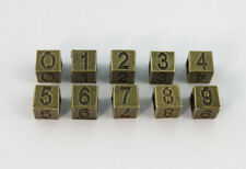 50PCS Antiqued Bronze Number Bead Charms W/big Hole #22901