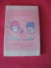 Sanrio Little Twin Stars Hand Mirror Vintage Collectible NEW Boxed '76, '95