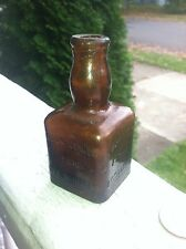 "Rare 1892 Whiskey ""Nip""Handtooled & Emb 3 Sides ""Mt. Vernon Pure Rye Whiskey"""