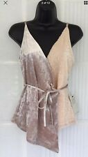 NEXT NUDE VELVET/BLUSH SEQUIN WRAP STRAPPY TOP SIZE 20 BNWT Rrp £42