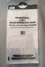 50 Door knob Hanging Clear promotional or sales marketing bags.