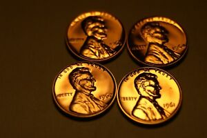 1961, 1962, 1963, 1964 P LINCOLN CENTS PROOFS 1