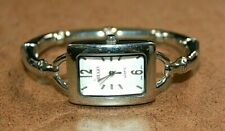 HTF Ladies by Hugo Stainless Steel Bamboo Design Hinged Bangle Watch [069WEI]