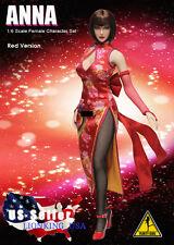 1/6 Tekken ANNA WILLIAMS Head Sculpt Dress Set For Hot Toys Phicen Figure ❶USA❶