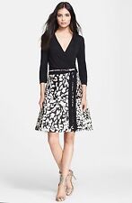 Diane von Furstenberg 'Amelia' Feather Leopard  Wrap Dress Size:10 $485 NWT