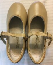 Toddler Tan Tap Shoes Mary Jane Style w/straps Theatricals  Size 8M  3142